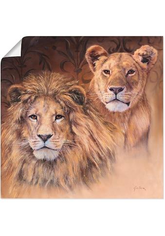 Artland Wandbild »Löwen«, Wildtiere, (1 St.), in vielen Grössen & Produktarten -... kaufen