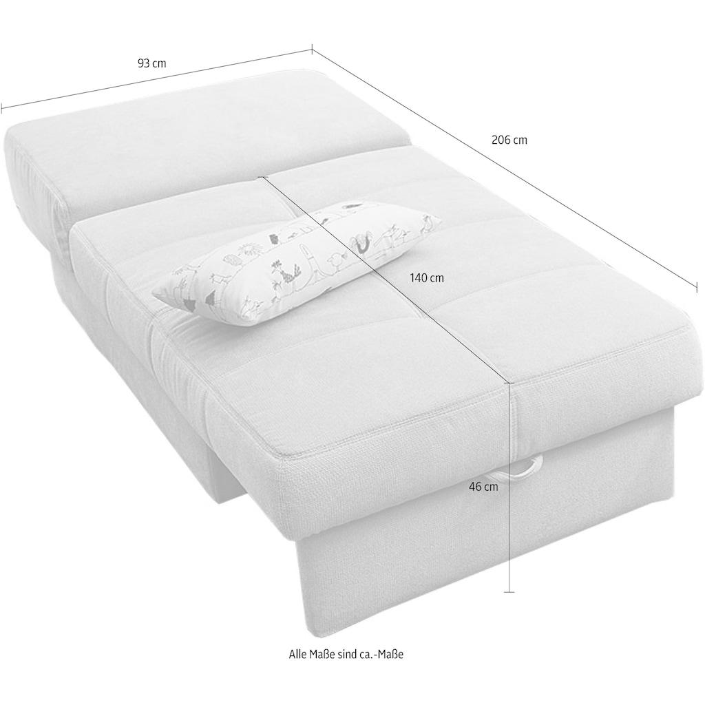 Jockenhöfer Gruppe Schlafsofa, inklusive Bettfunktion und Bettkasten, mit Federkern und loser Rückenkissen