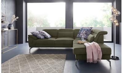 sit&more Ecksofa, 12 cm Fusshöhe, inklusive Sitztiefenverstellung, wahlweise... kaufen