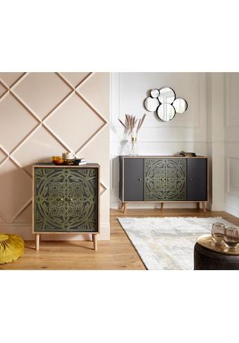 Leonique Kommode »Clivia«, mit dekorativem Print auf den Türen kaufen