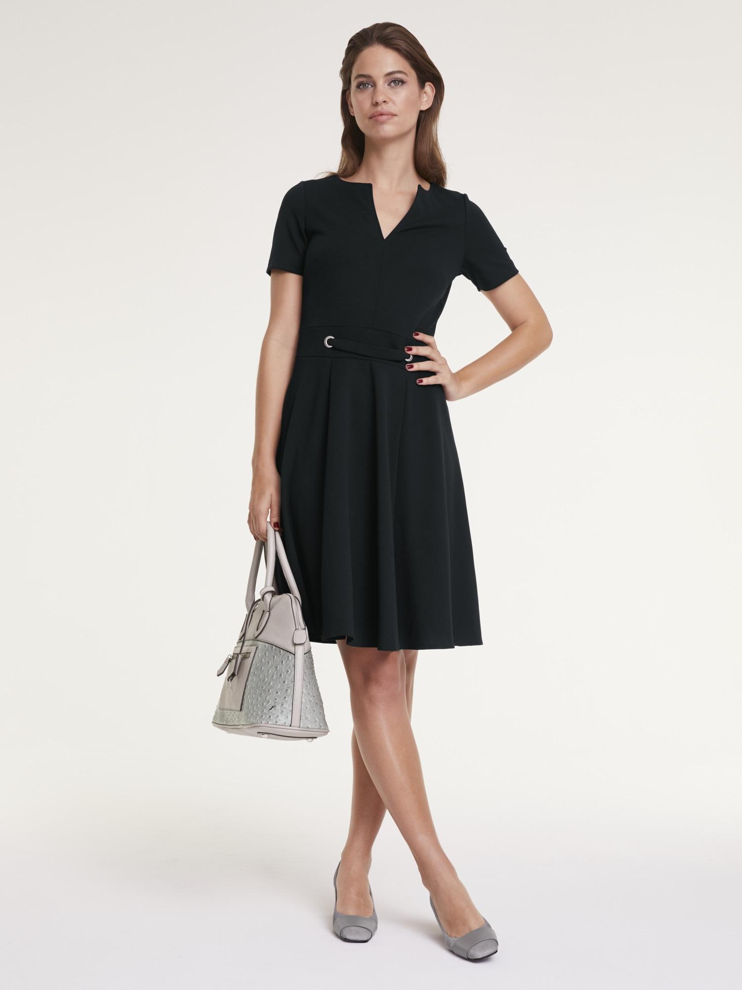 Image of ASHLEY BROOKE by Heine A-Linien-Kleid, mit Zier-Ösen