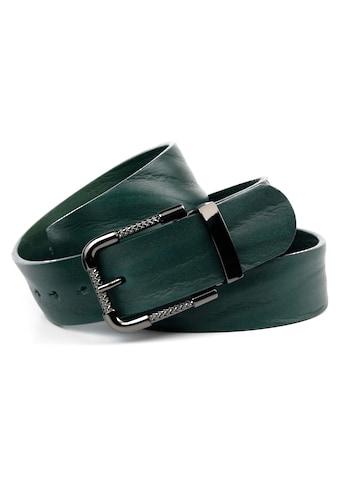 Anthoni Crown Ledergürtel, Volledergürtel in dunkelgrün kaufen
