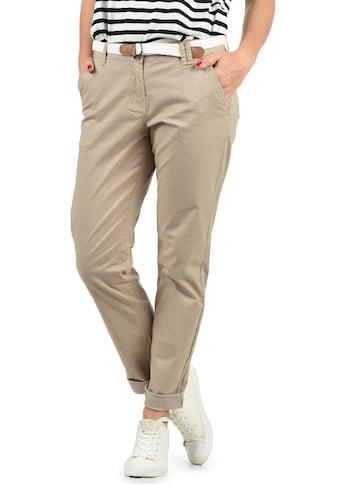DESIRES Chinohose »Chakira«, (mit abnehmbarem Gürtel), lange Hose mit Gürtel in... kaufen