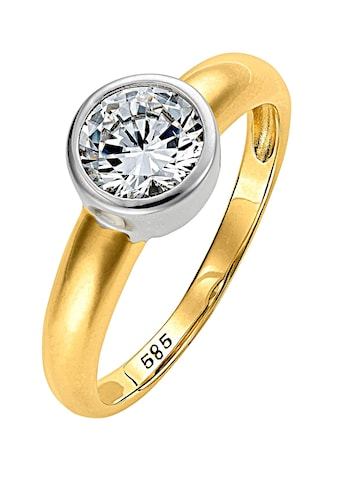 Lady Ring mit echtem Brillant - Einkaräter kaufen