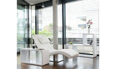 SalesFever Relaxsessel, mit Nackenkissen, Relaxliege mit modernem Metallfuss kaufen