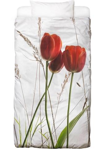 Juniqe Bettwäsche »Flora - Tulpe«, In vielen weiteren Designs erhältlich kaufen