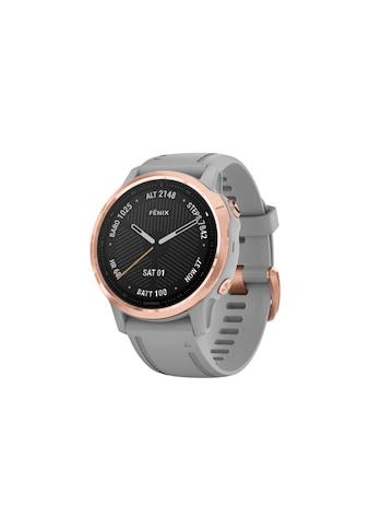 Garmin Smartwatch »fenix 6S Sapphire Schwarz/Silberfarben«, ( ) kaufen