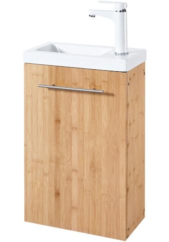 WELLTIME Waschtisch »Bambus New«, Waschplatz, 40 cm breit, für das Gästebad, 2 - tlg., SlimLine kaufen