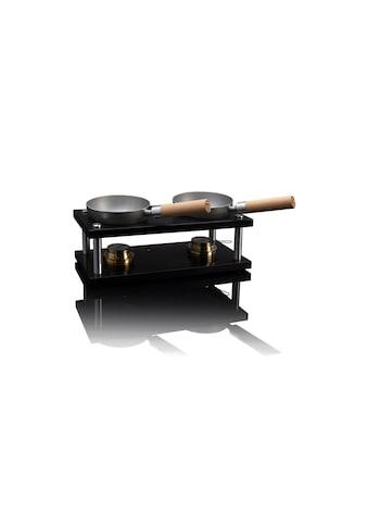 Raclette »Wok Double-Set Black Edition«, 4 St. Raclettepfännchen, - W kaufen