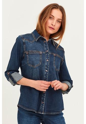 Pulz Jeans Jeansbluse »PZJOSIE Shirt 50205143«, Jeansbluse mit Ziernähten kaufen