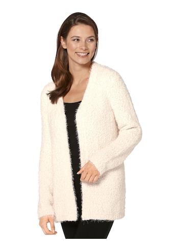Ambria Strickjacke aus flauschigem Effektgarn kaufen