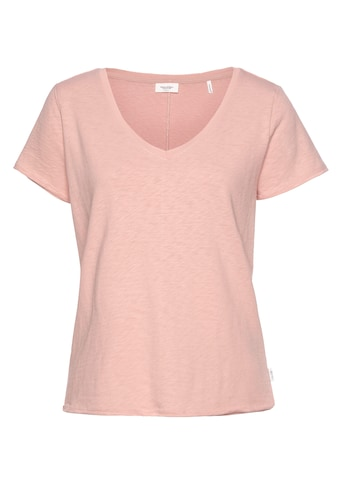 Marc O'Polo DENIM V-Shirt, modisch offenkantigem Saum und Ärmelabschluss kaufen