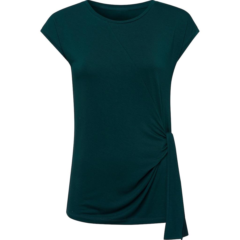 LASCANA T-Shirt, mit modischem Bindedetail