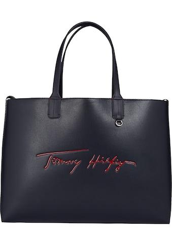 Tommy Hilfiger Shopper »ICONIC TOMMY TOTE SIGN«, kann gewendet werden kaufen