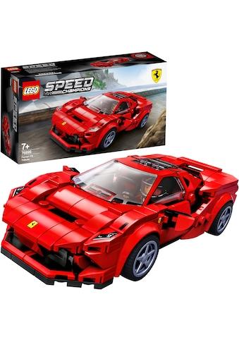 LEGO® Konstruktionsspielsteine »Ferrari F8 Tributo (76895), LEGO® Speed Champions«, (275 St.), Made in Europe kaufen
