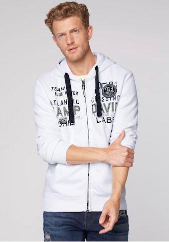 CAMP DAVID Kapuzensweatjacke, mit Logoprint kaufen