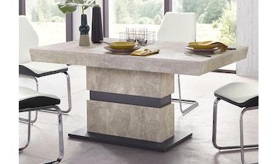 Homexperts Säulen-Esstisch »Marley Az«, ausziehbar, in 2 Grössen (140 + 160) kaufen