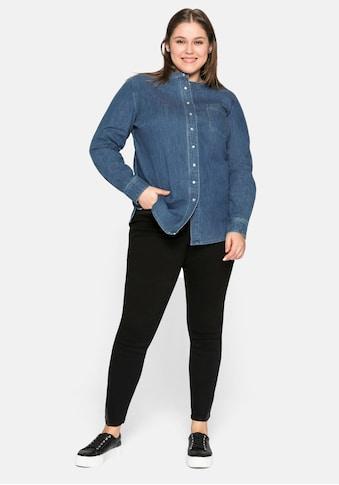 Sheego Jeansbluse, aus reiner Baumwolle kaufen
