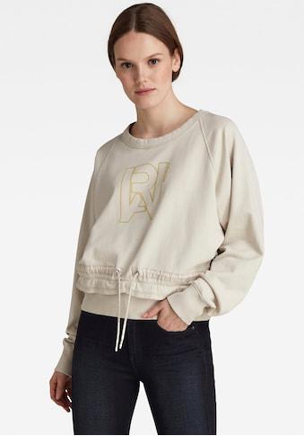 G-Star RAW Sweatshirt »RAW Drawcord Raglan Crewneck Sweatshirt«, verstellbare Passform... kaufen