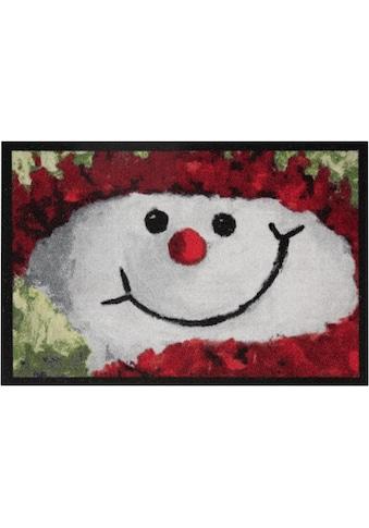 HANSE Home Fussmatte »Snowman«, rechteckig, 7 mm Höhe, Fussabstreifer, Fussabtreter,... kaufen