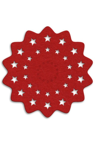 Wall-Art Tischdecke »Rote Weihnachtsbaumdecke Sterne« kaufen