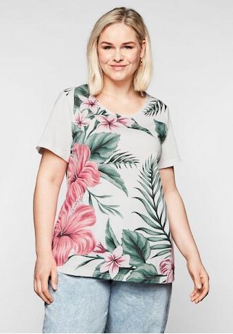 Sheego T-Shirt, mit floralem Frontdruck kaufen