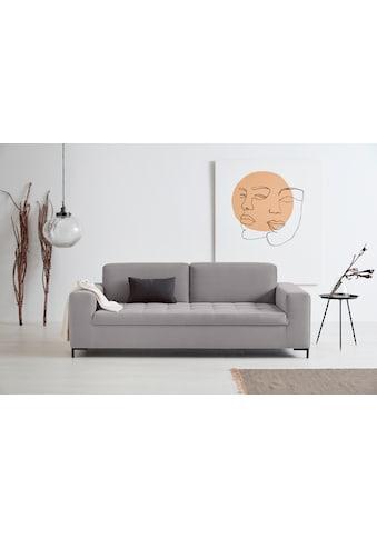 GOODproduct 3-Sitzer »Grazzo«, hochwertige Stoffe aus recyceltem Material, Steppung im... kaufen