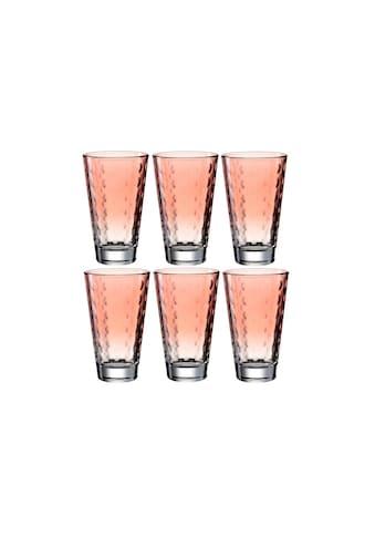 LEONARDO Glas »Optic Pastell 30«, (6 tlg.) kaufen