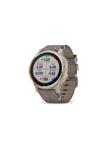 Garmin Smartwatch »Fenix 6S Sapphire Silberfarben/Grau/Goldfarben«, ( ) kaufen