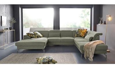 sit&more Wohnlandschaft, 15 cm Fusshöhe, inklusive Sitztiefenverstellung, wahlweise... kaufen
