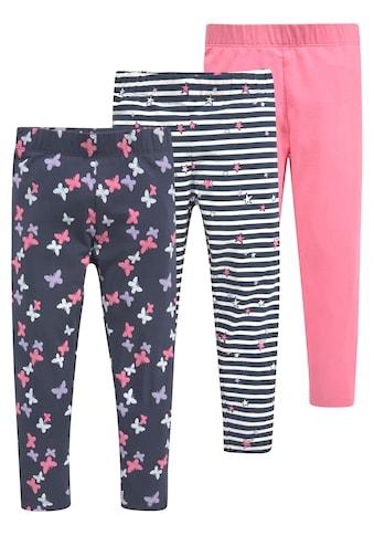 KIDSWORLD Leggings, (Packung, 3er-Pack), mit unterschiedlichen Mustern und Farben kaufen