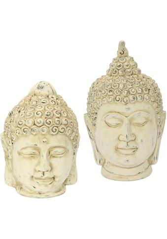 I.GE.A. Dekofigur »Buddha-Kopf«, 2er Set kaufen