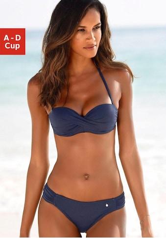 s.Oliver Bügel-Bandeau-Bikini, mit Raffung kaufen