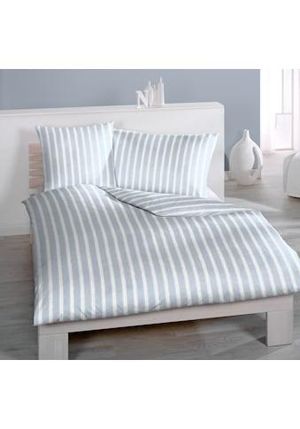 Bettwäsche »Marina, Satin, (2tlg.)«, breite und schmale Streifen kaufen