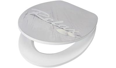 WC - Sitz »Relax / Beach«, MDF Toilettensitz mit Absenkautomatik, grau, Muschel kaufen