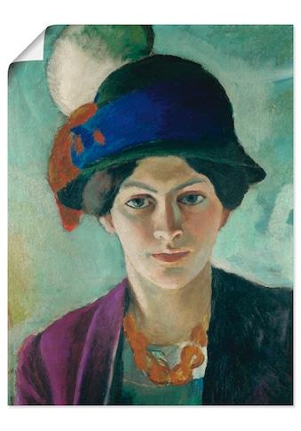 Artland Wandbild »Frau des Künstlers mit Hut« kaufen
