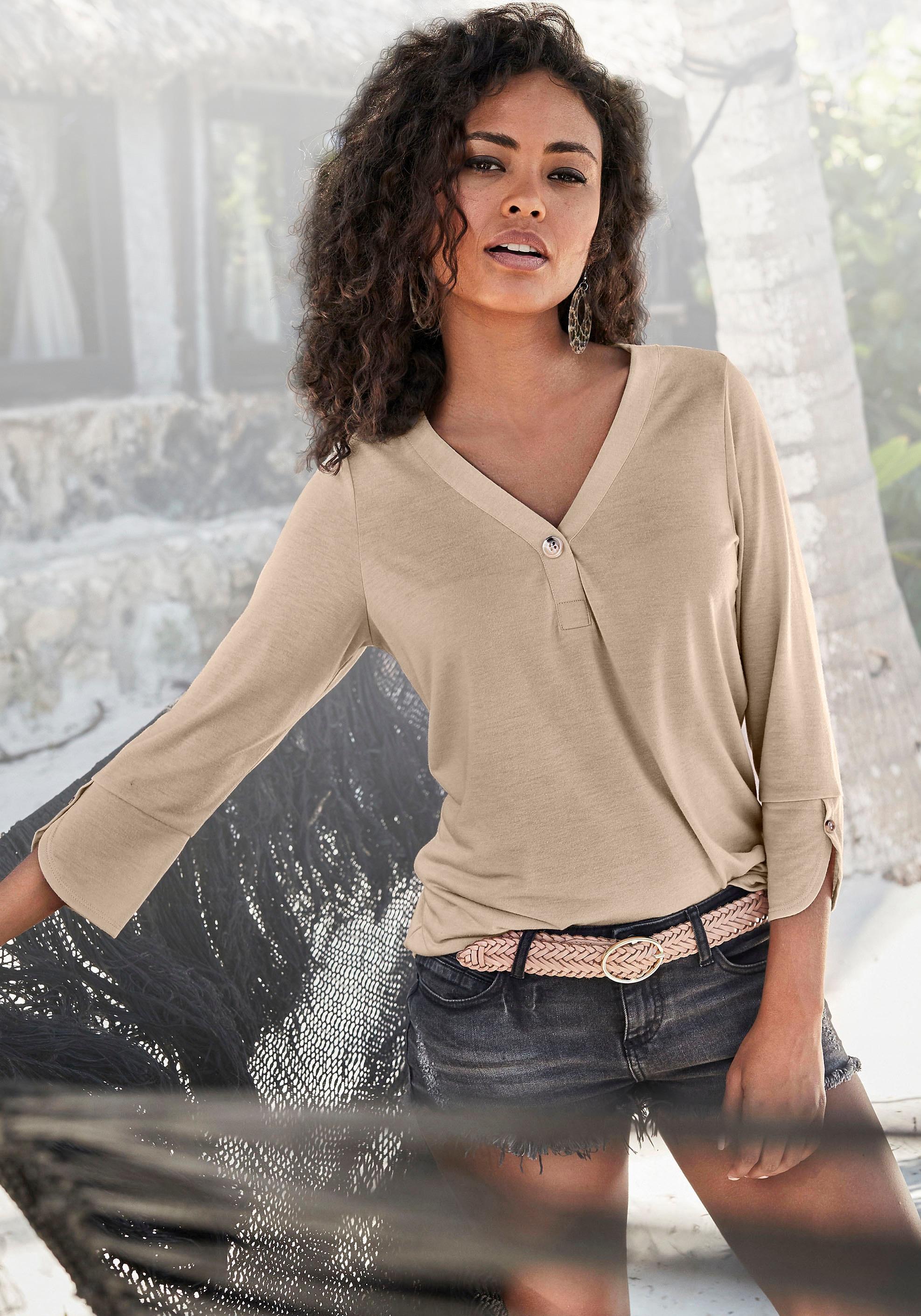 Image of LASCANA 3/4-Arm-Shirt, mit modischen Ärmeldetails