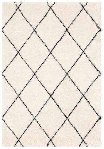 Leonique Hochflor-Teppich »Belle«, rechteckig, 35 mm Höhe, Rauten Design, weiche... kaufen