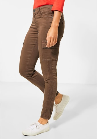 STREET ONE Cargohose, softer Materialmix kaufen