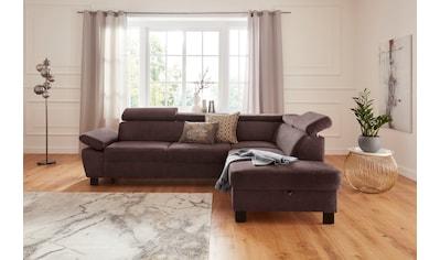 exxpo - sofa fashion Ecksofa, mit Kopfstützenverstellung und Armlehnverstellung,... kaufen