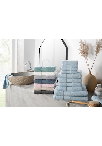 my home Handtuch Set »Ally«, in dezenten Unifarben kaufen