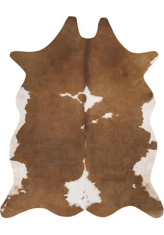 Fellteppich, »Amarillo«, Andiamo, fellförmig, Höhe 4 mm, maschinell gewebt kaufen