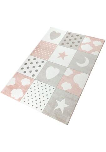 Living Line Kinderteppich »Karo Mix«, rechteckig, 12 mm Höhe, Spielteppich, Patchwork,... kaufen