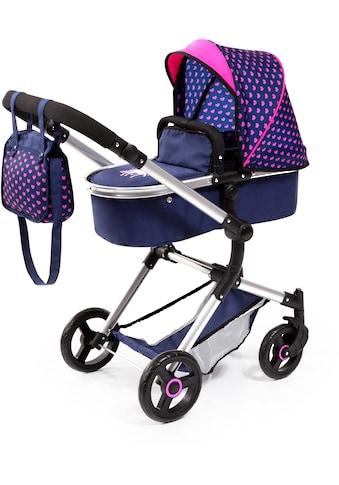 Bayer Kombi-Puppenwagen »Vario, Blau/Pink«, inkl. Wickeltasche kaufen