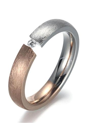 Firetti Fingerring »4,0 mm, Matt - Glanzoptik, bicolor« kaufen