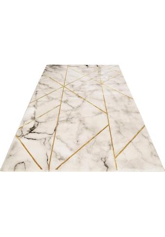Teppich, »#M.A.R.B.L.E & G«, Wecon home, rechteckig, Höhe 12 mm, maschinell gewebt kaufen