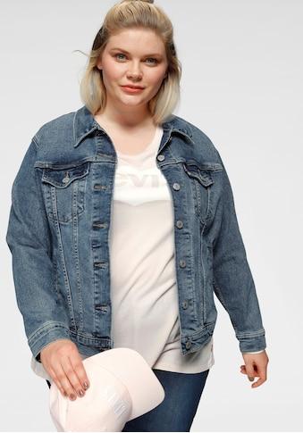 Levi's® Plus Jeansjacke »Boyfriend Trucker«, mit seitlichem Riegel kaufen