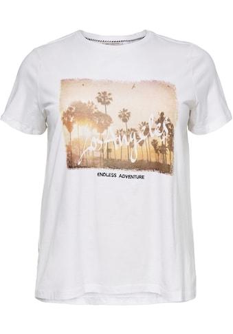 ONLY CARMAKOMA T-Shirt, Mit sommerlichem Motiv und Schriftzug kaufen