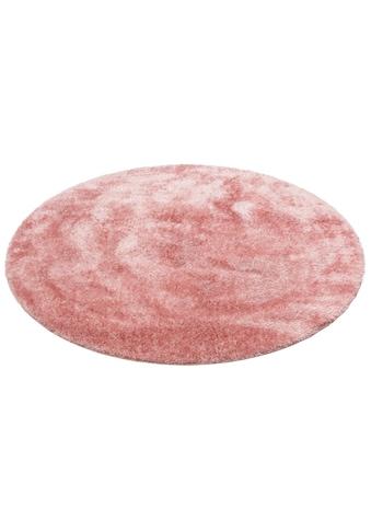 Hochflor - Teppich, »Malin«, Home affaire, rund, Höhe 43 mm, maschinell gewebt kaufen