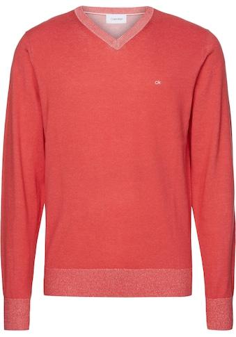 Calvin Klein V - Ausschnitt - Pullover »COTTON SILK V - NECK SWEATER« kaufen